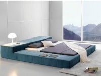 posh_bed_frame_blue_soft